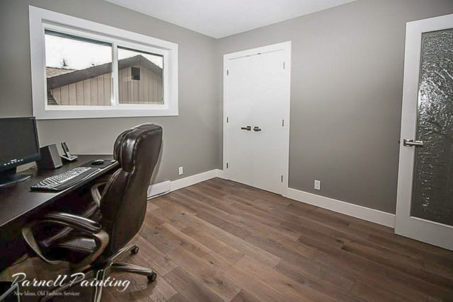 A Softer Look Was Desired So The Walls Were Painted In A Matte Sheen And  The Trim Work And Doors Were Done In Pearl. It Suits The Modern Style And  Look Of ...