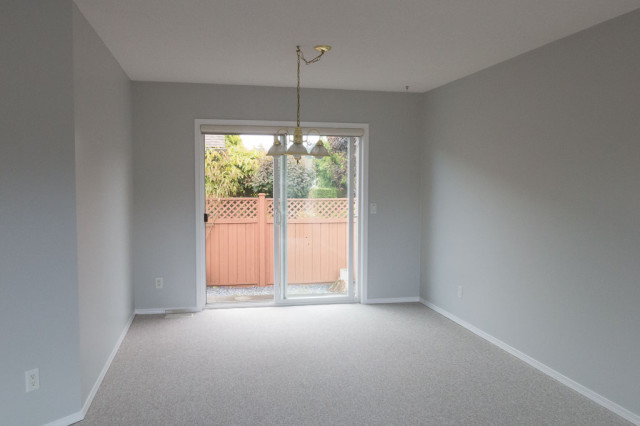 dining room after painting in grey colour