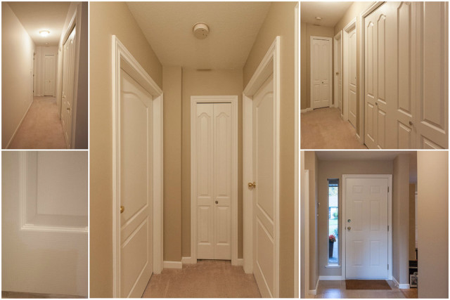 hallway and entry painted warm beige colour