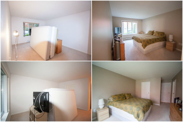 master bedroom before and after painting walls light neutral beige