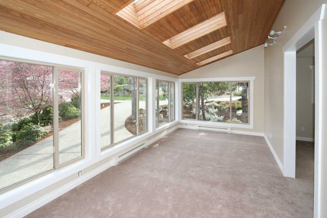sunroom painted in oatmeal cream colour