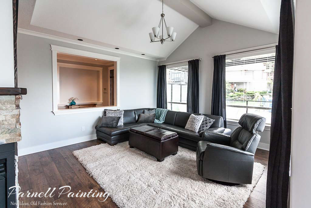 Living rooms painted grey