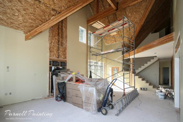 ... Of Colour On The Walls Of This New Construction House Prior To Any  Installations. This Particular House Will Be Having Tongue And Groove Wood  Ceilings, ...
