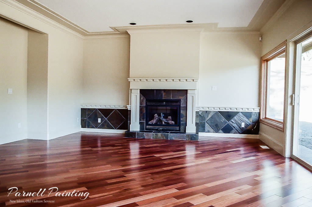 Off White Walls With Natural Wood Floors And Windows