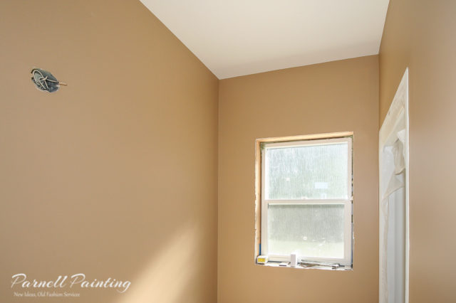 process of painting a new construction home. Black Bedroom Furniture Sets. Home Design Ideas