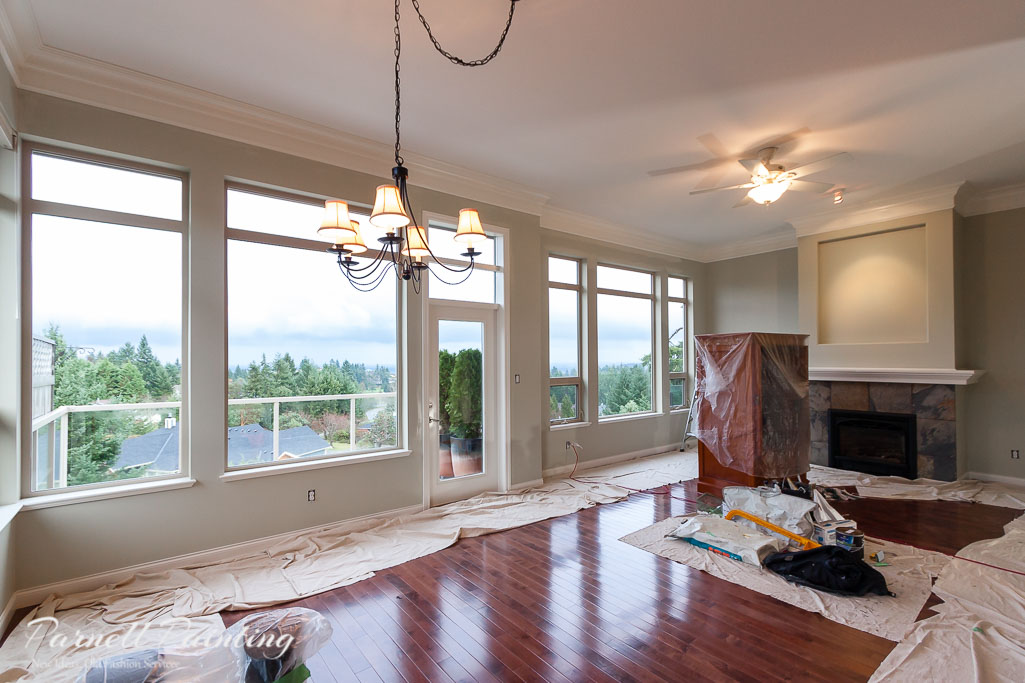 Living room painted in sage green with white trim - White house green trim ...