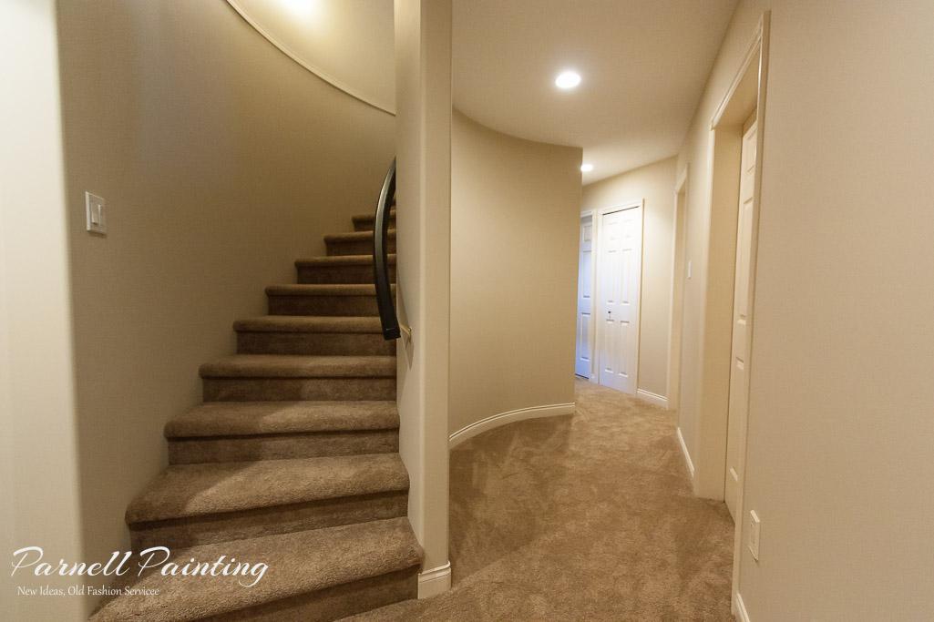 Hallway Painted In Putnam Ivory